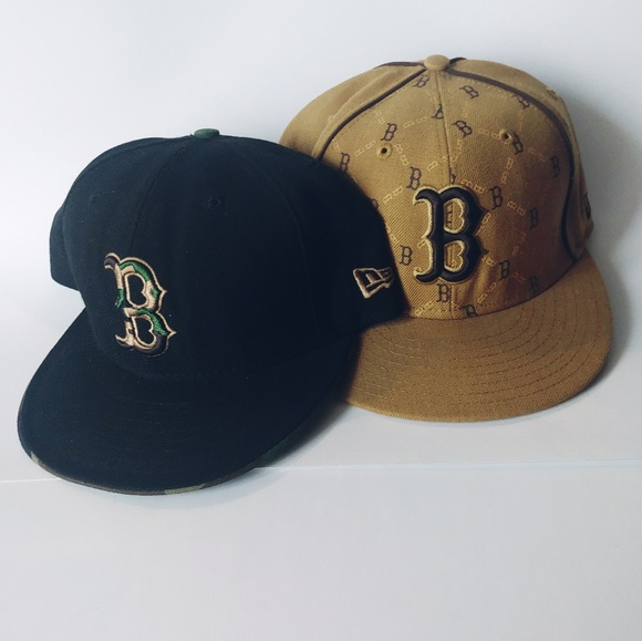 New Era Other - Pair of Camo & Diamond Boston Bs Fitted Hats7 3/4
